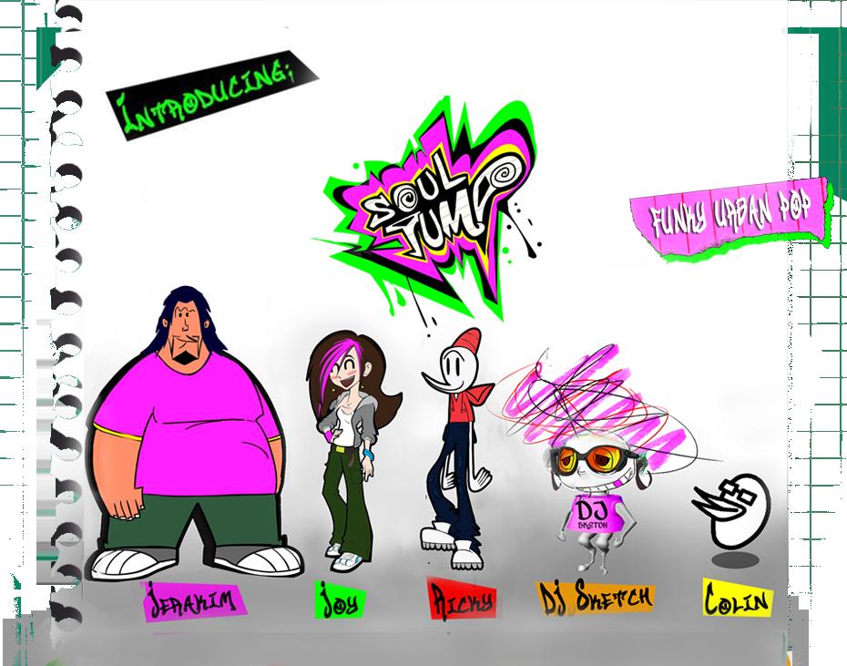 Soul Jump Funky Urban Pop Animated Virtual Band Uk Cartoon Band